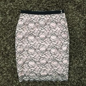 Lord & Taylor Pink lace skirt